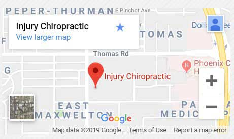 accidentchiropractorphoenix map